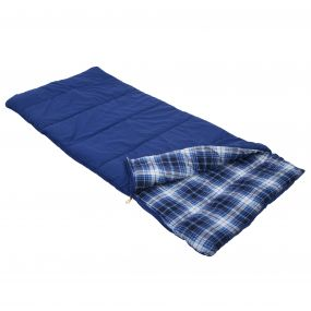 Bienna Cotton Lined Single Sleeping Bag Laser Blue