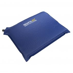 Self-Inflating Foam Camping Pillow or Sit Mat Laser Blue
