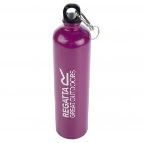 1 Litre Steel Bottle with Karabiner Lid Azalia Purple