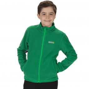 Kids King II Lightweight Full Zip Fleece Verdant