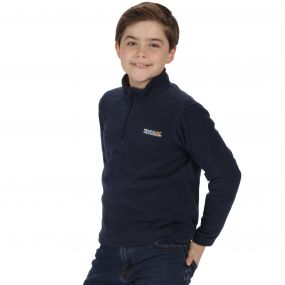 Kids Hot Shot II Half Zip Lightweight Fleece Navy