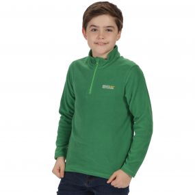Kids Hot Shot II Half Zip Lightweight Fleece Verdant