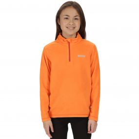 Kids Hot Shot II Half Zip Lightweight Fleece Persimmon