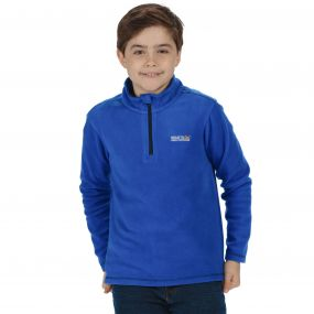 Kids Hot Shot II Half Zip Lightweight Fleece Surfspray Blue Navy