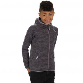 Kids Dissolver Mid Weight Knit Effect Hooded Fleece Iron