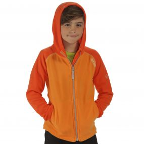 Upflow Hooded Fleece Orange Magma