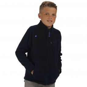 Kids Marlin V Lightweight Full Zip Fleece Navy
