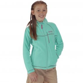 Kids Marlin V Lightweight Full Zip Fleece Pale Jade