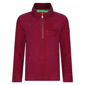 Kids Oaklands Lightweight Half Zip Mini Stripe Fleece Bright Blush