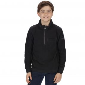 Kids Oaklands Lightweight Half Zip Mini Stripe Fleece Ash