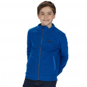 Kids Matterdale Full Zip Honeycomb Fleece Oxford Blue