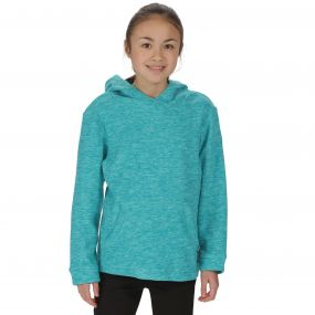 Kids Khrissa Mid Weight Overhead Hooded Fleece Aqua Horizon
