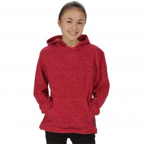 Kids Khrissa Mid Weight Overhead Hooded Fleece Bright Blush Beetroot