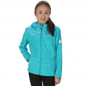 Kids Atomizer Mid Weight Hooded Marl Fleece Aqua