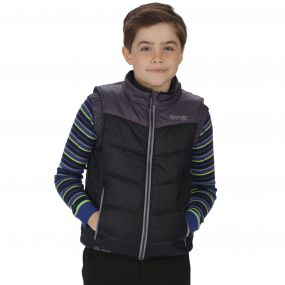 Kids Icebound II Mid Weight Insulated Gilet Black Iron