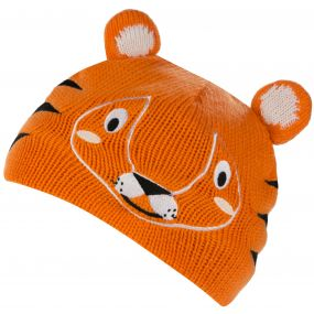 Kids Animally Hat II Tiger Persimmon Burnt Samon