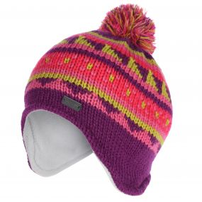 Kids Rivel Fair Isle Knit Bobble Hat Winberry