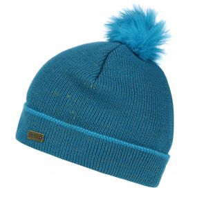 Kids Gleam Knit Bobble Hat Enamel