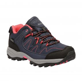 Kids Holcombe Low Walking Shoes Navy Bright Blush