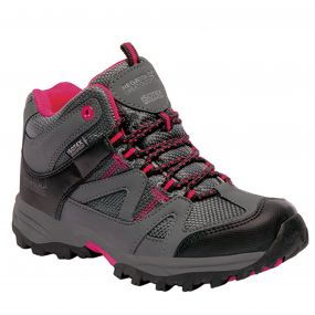 Kids Gatlin Mid Walking Boots Granite Duchess
