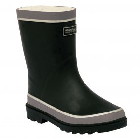 Kids Foxfire Wellington Boots Black