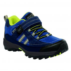 Kids Trailspace II Low Walking Shoes Navy Neon Spring