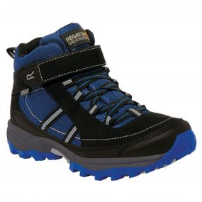 Kids Trailspace II Mid Walking Boots Surfspray Blue Black