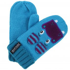 Kids Animally Mitts II Hippo Gloves Aqua Winberry