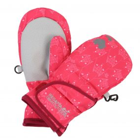 Kids Spatter Mitt III Reflective Waterproof Gloves Bright Blush