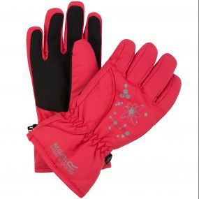 Kids Arlie II Reflective Waterproof Gloves Bright Blush