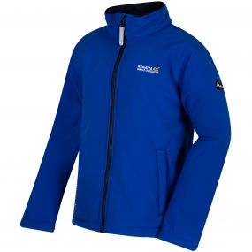 Kids Tato IV Softshell Jacket Surfspray Blue Navy