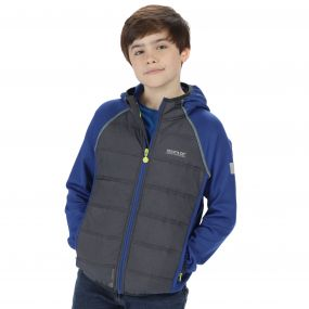 Kids Kielder Hybrid II Lightweight Insulated Jacket Surfspray Blue Iron
