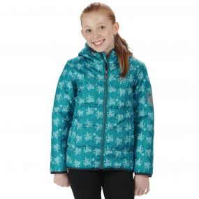 Kids Coulby II Quilted Printed Puffer Jacket Enamel Fox Print