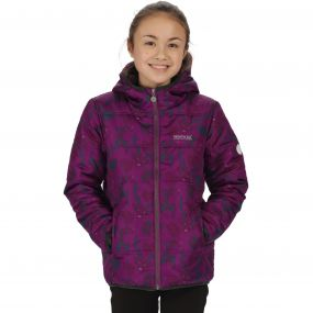 Kids Coulby II Quilted Printed Puffer Jacket Winberry Woodland Print
