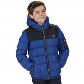 Kids Larkhill Heavyweight Quilted Puffer Jacket Surfspray Blue Navy
