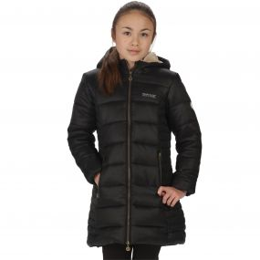 Kids Berryhill Insulated Hooded Puffer Parka Jacket Black