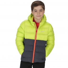 Kids Lofthouse Super Heavyweight Insulated Jacket Lime Zest Iron