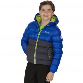 Kids Lofthouse Super Heavyweight Insulated Jacket Surfspray Blue Iron