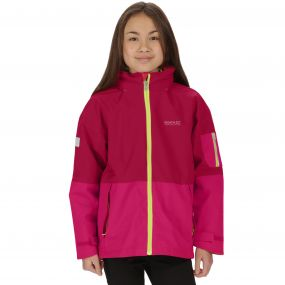 Kids Hydrate II Waterproof 3-in-1 Jacket Persian Red Duchess Reflective