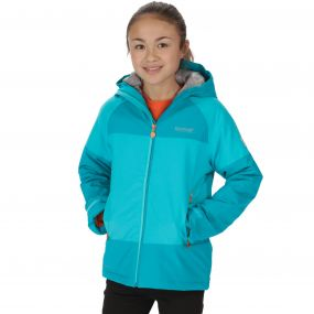 Kids Aptitude II Waterproof Stretch Jacket Aqua Enamel