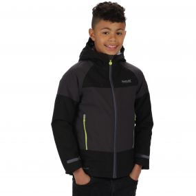 Kids Aptitude II Waterproof Stretch Jacket Black Ash