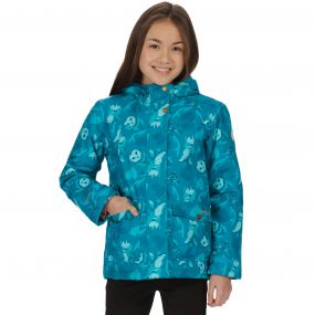 Kids Rosebank Waterproof Hooded Jacket Enamel Woodland Print
