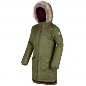 Kids Hollybank Waterproof Parka Jacket Cypress Green