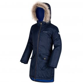 Kids Hollybank Waterproof Parka Jacket Navy