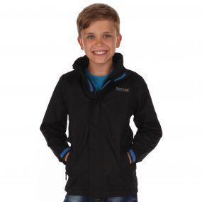 Kids Greenhill II Waterproof Shell Jacket with Concealed Hood Black