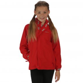Kids Greenhill II Waterproof Shell Jacket with Concealed Hood Pepper Red