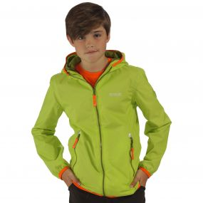 Kids Lever II Waterproof Hooded Jacket Lime Zest