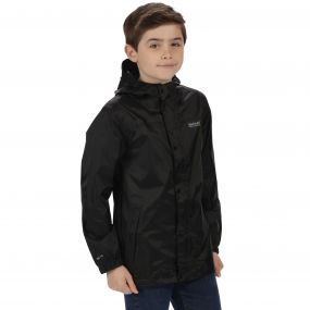 Kids Pack It Jacket II Waterproof Packaway Black