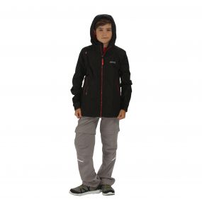 Kids Allcrest II Breathable Waterproof Hooded Jacket Black
