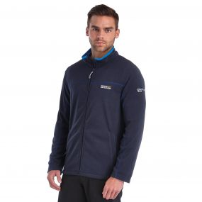 Fairview Mid Weight Full Zip Fleece Navy Oxford Blue